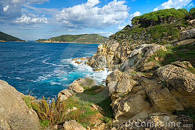Beautiful coastlines in Elba island. Italy