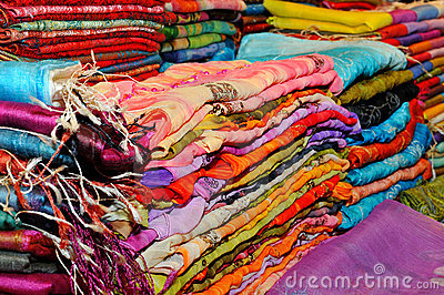 Beautiful colored scarfs