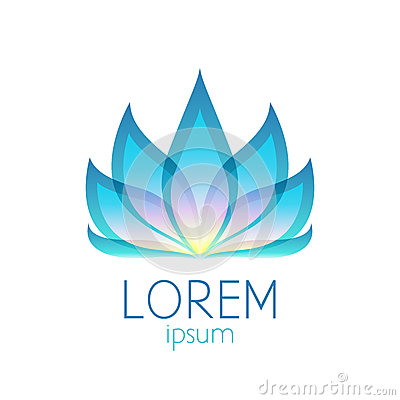 Free Beautiful Colorful Lotus Flower Logo Sign Royalty Free Stock Images - 53497549