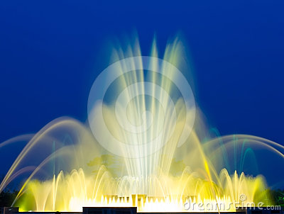 Beautiful Colorful Musical Fountain