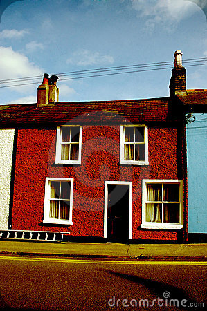 Beautiful and colourful Irish old house in Dublin