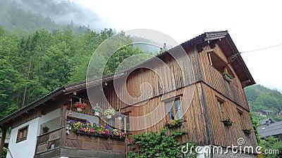 Beautiful cottages in landscape