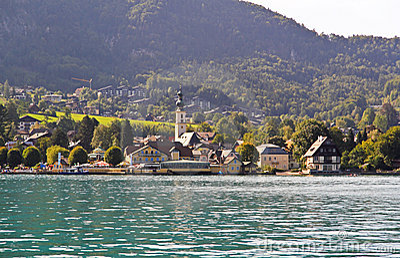 The beautiful countryside around Lake Wolfgang
