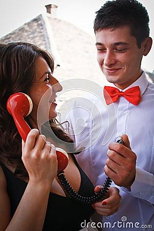 Beautiful couple fooling around