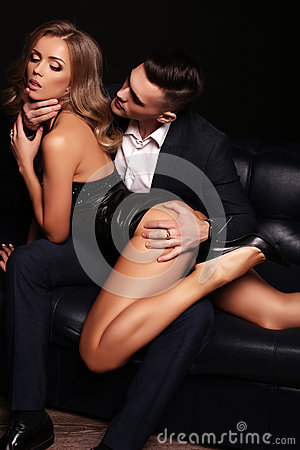 Free Beautiful Couple. Gorgeous Blond Woman And Handsome Man Royalty Free Stock Photo - 66212045