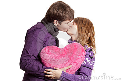 Beautiful couple with heart