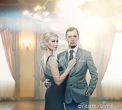 Beautiful couple indoors