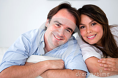 Beautiful couple portrait