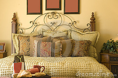 Beautiful cozy traditional style bedroom Decor