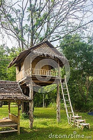 Free Beautiful Creative Handmade Tree House Stock Photography - 75169942