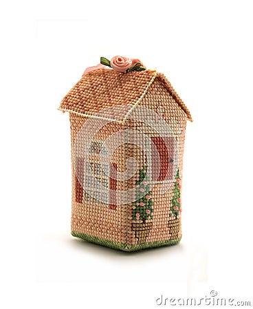Beautiful cross-stitched house