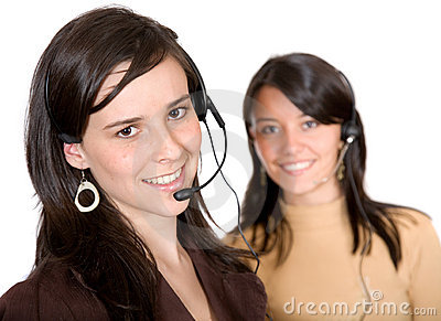 Beautiful customer service advisors