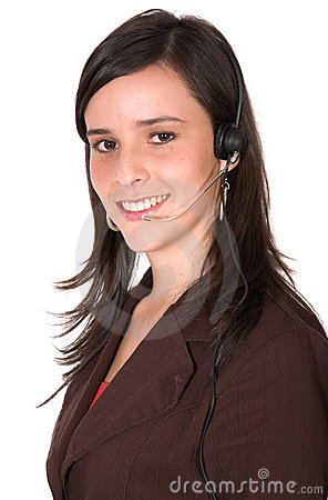 Beautiful Customer Support Girl