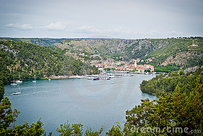 Beautiful dalmatian town Skradin