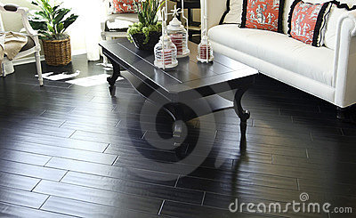 Beautiful dark hard wood flooring i