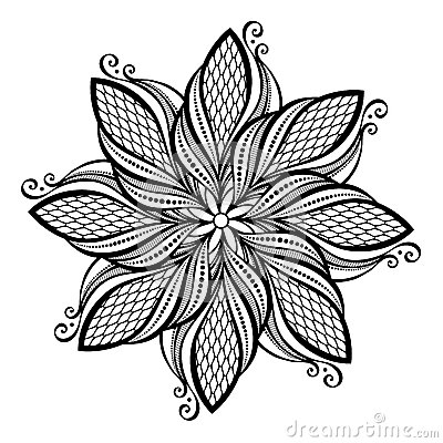 Free Beautiful Deco Mandala (Vector) Royalty Free Stock Photo - 35478965