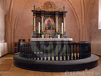 Beautiful decorated church altar