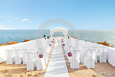 Beautiful decorations for the wedding ceremony.