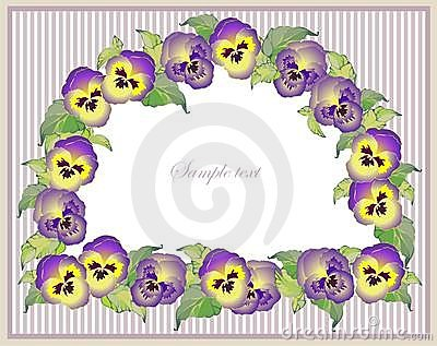 Beautiful decorative framework with flowers. Greet