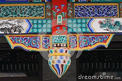 Beautiful design on chinese traditional architectu