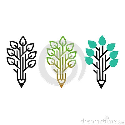 Beautiful design leaf logo for your company Vector Illustration