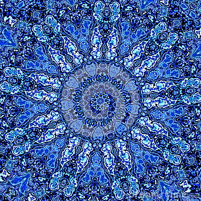 Free Beautiful Detailed Blue Mandala Fractal. Abstract Background Pattern. Decorative Modern Artwork. Creative Ornate Image. Element. Royalty Free Stock Photography - 51087567