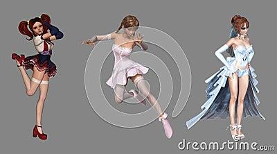 Beautiful Digital Fantasy Characters