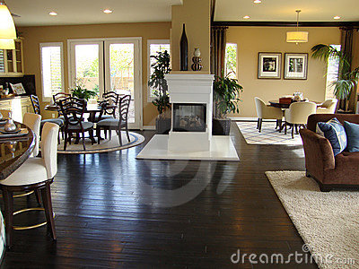 Beautiful Dining and Family Room