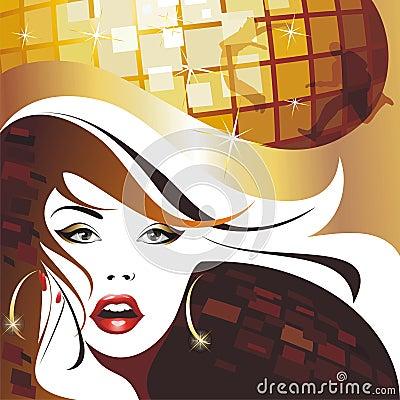 Beautiful disco girl.