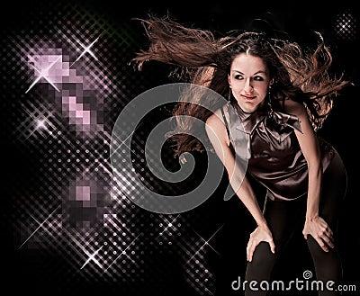 Beautiful disco girl