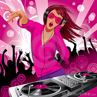 Free Beautiful DJ Girl Royalty Free Stock Photos - 10356238
