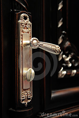 Beautiful door handle closeup