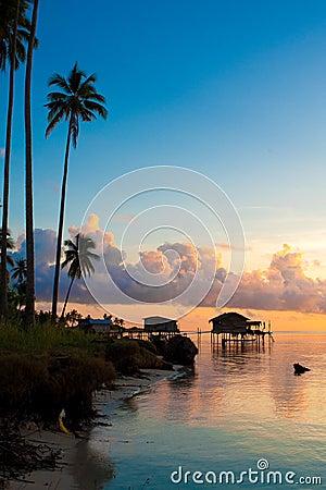 Beautiful early morning sunrise