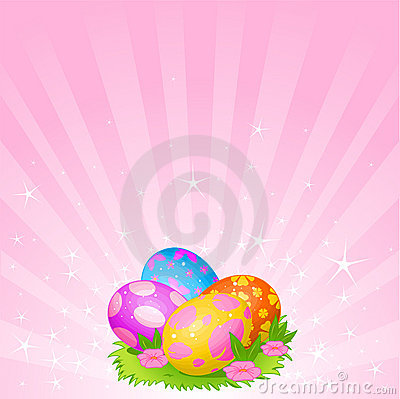 Free Beautiful Easter Eggs Background Stock Image - 19191661