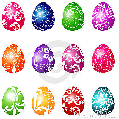 Beautiful Easter eggs illustration