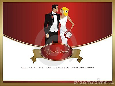 Beautiful elegance wedding card