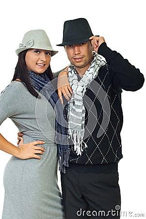 Beautiful elegant young couple