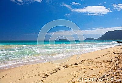 Beautiful Empty Beach in Hawaii