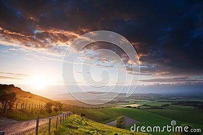Beautiful English countryside landscape