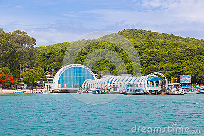 The beautiful entrance of Samet island which welcome for all foreigner and Thai people to Editorial Photography