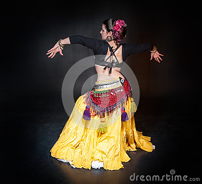 Free Beautiful Exotic Belly Tribal Dancer Woman Stock Photo - 64441560