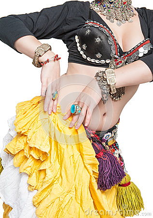 Free Beautiful Exotic Belly Tribal Dancer Woman Royalty Free Stock Photos - 64831938