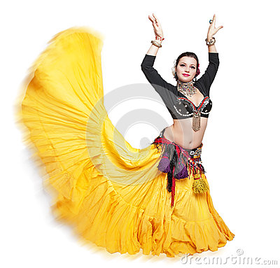 Free Beautiful Exotic Belly Tribal Dancer Woman Royalty Free Stock Images - 65429069
