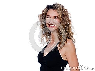 Beautiful expressive curly hair Woman