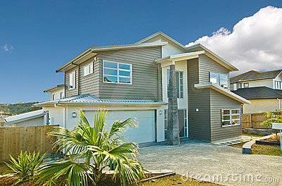 Beautiful exterior of house in suburb