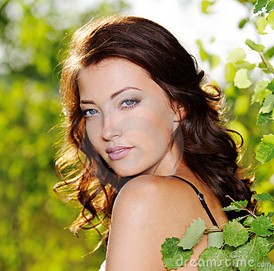 Free Beautiful Face Of The Woman On The Nature Stock Photos - 15468863