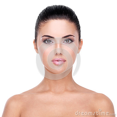 Free Beautiful Face Of Young Woman With Clean Skin. Royalty Free Stock Image - 38897486