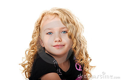 Beautiful face of a young girl