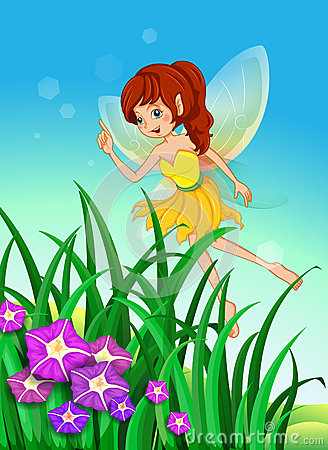A beautiful fairy in the garden