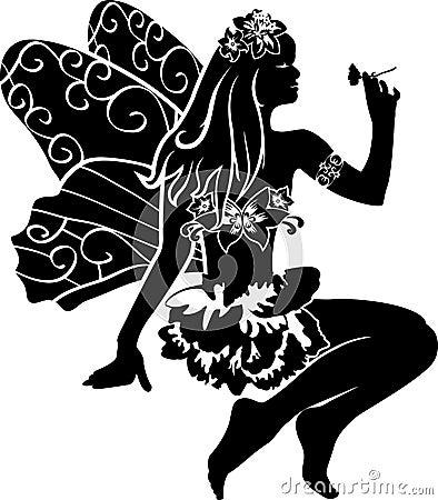 Beautiful fairy stencil